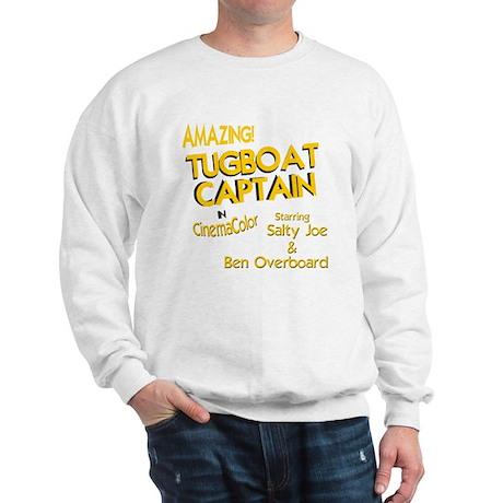 funny tugboat captain Sweatshirt