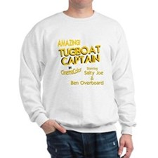 funny tugboat captain Sweatshirt