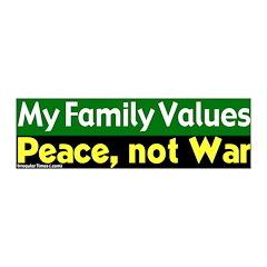 My Family Values Peace Vinyl Wall Graphic