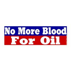 No More Blood for Oil 20x6 Graphic Wall Peel