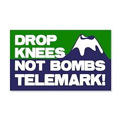 Drop Knees, Not Bombs 20x12 Wall Peel