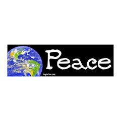World Peace 20x6 Peel and Stick Wall Art