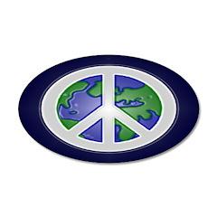 Peace on Earth Sign (20x12 Oval Wall Peel)