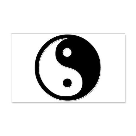 Black Yin Yang 22x14 Wall Peel
