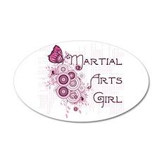 Martial Arts Girl 22x14 Oval Wall Peel
