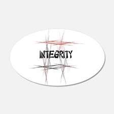 Martial Arts Integrity 22x14 Oval Wall Peel