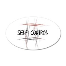 Martial Arts Self Control 22x14 Oval Wall Peel