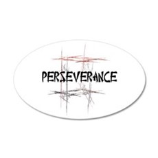 Martial Arts Perseverance 22x14 Oval Wall Peel