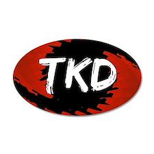 TKD Hurricane 38.5 x 24.5 Oval Wall Peel