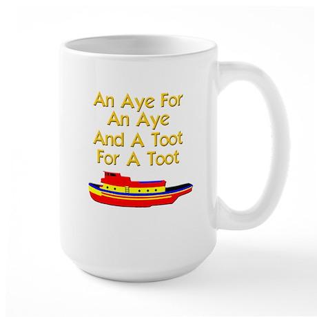 funny tugboat Large Mug