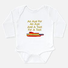 funny tugboat Long Sleeve Infant Bodysuit