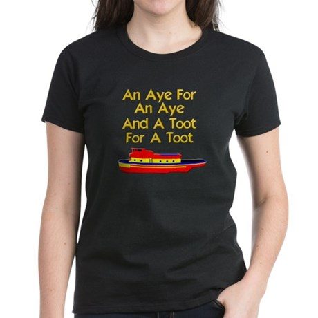 funny tugboat Women's Dark T-Shirt