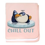 Chill Out Penguin baby blanket