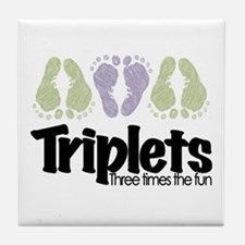 Triplets (unisex) Three Times Tile Coaster
