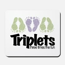 Triplets (unisex) Three Times Mousepad