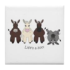 Med. Miniature Donkey Tile Coaster