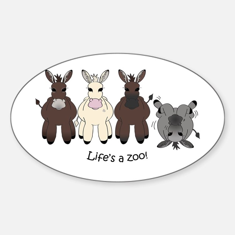 Med. Miniature Donkey Decal
