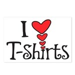 I heart T-Shirts Postcards (Package of 8)