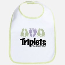 Triplets (unisex) Three Times Bib