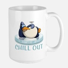 Chill Out Penguin Large Mug