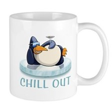 Chill Out Penguin Small Mug