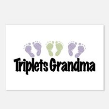 Triplets Grandma (Unisex) Postcards (Package of 8)