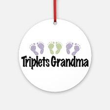 Triplets Grandma (Unisex) Ornament (Round)