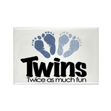 Twins (Boy) - Twice as much f Rectangle Magnet