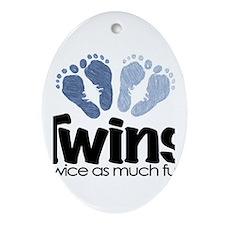 Twins (Boy) - Twice as much f Ornament (Oval)