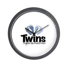 Twins (Boy) - Twice as much f Wall Clock