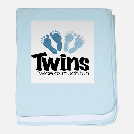 Twins (Boy) - Twice as much f baby blanket