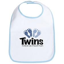 Twins (Boy) - Twice as much f Bib