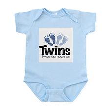 Twins (Boy) - Twice as much f Infant Bodysuit
