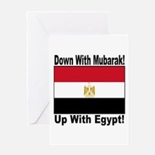 Down With Mubarak Up With Egypt Greeting Card