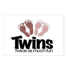 Twins (Girl) - Twice the Fun Postcards (Package of
