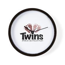 Twins (Girl) - Twice the Fun Wall Clock