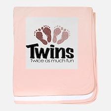Twins (Girl) - Twice the Fun baby blanket