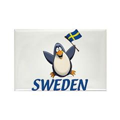 Sweden Penguin Rectangle Magnet (10 pack)
