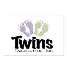 Twin (Unisex) - Twice the Fun Postcards (Package o