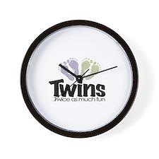 Twin (Unisex) - Twice the Fun Wall Clock