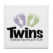 Twin (Unisex) - Twice the Fun Tile Coaster