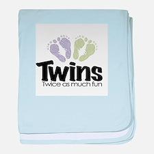 Twin (Unisex) - Twice the Fun baby blanket