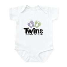 Twin (Unisex) - Twice the Fun Infant Bodysuit