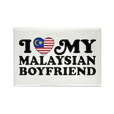I Love My Malaysian Boyfriend Rectangle Magnet