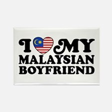 I Love My Malaysian Boyfriend Rectangle Magnet