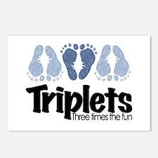 Triplet Boys - More Fun Postcards (Package of 8)
