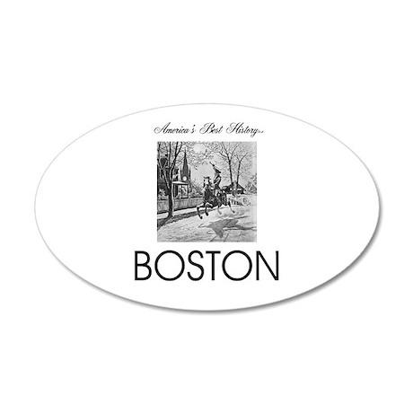 ABH Boston 20x12 Oval Wall Decal