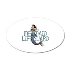 Mermaid Lifeguard Wall Sticker
