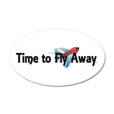 Time to Fly Away 20x12 Oval Wall Decal