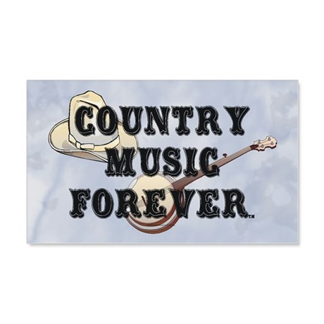 Country Music Forever 20x12 Wall Decal